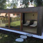Domek saunowy - panoramiczne okna