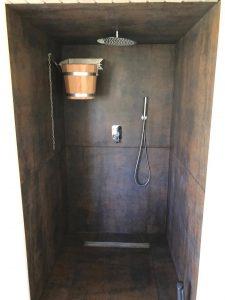 Domek saunowy - kabina prysznicowa