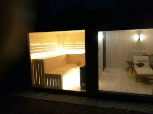 Domek saunowy - oświetlenie